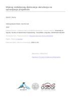 prikaz prve stranice dokumenta Utjecaj neželjenog djelovanja okruženja na upravljanje projektom